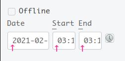 CQRlog デフォルトの日付スペース